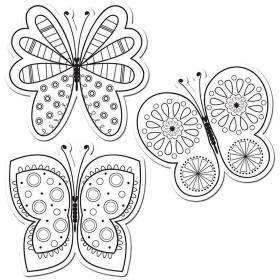 Color Me Butterflies  6In Designer Cut Outs