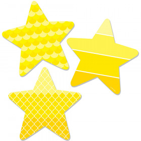 "Painted Palette Stars 6"" Designer Cut-Outs"