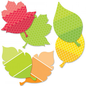"Painted Palette Leaves 6"" Designer Cut-Outs"