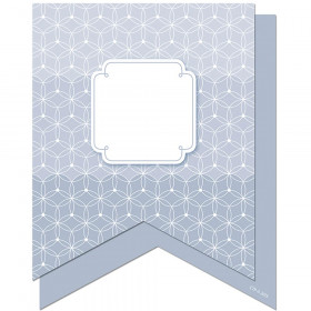 "Painted Palette Slate Gray Pennants 6"" Designer Cut-Outs"