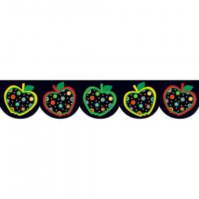 Dots on Black Apples Border