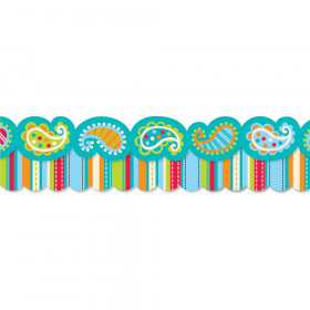 Dots On Turquoise Perfect Pairs Border Pk