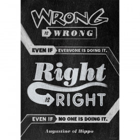 Wrong is wrong even if Inspire U Poster