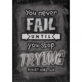 You Never Fail Until Inspire U Poster