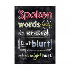 Spoken words can't be erased Inspire U Poster