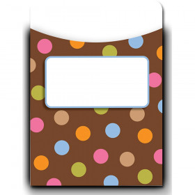 Dots on Chocolate Library Pockets - Jumbo
