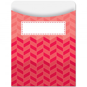 Painted Palette Ombre Poppy Red Herringbone Library Pocket - Standard