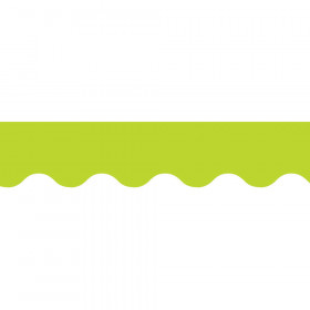 Lime Green Wavy Border