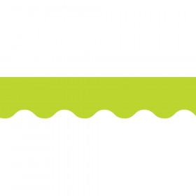Lime Green Wavy Border