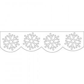 Snowflakes Jumbo Stencil-Cut Border