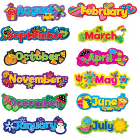 Poppin' Patterns Seasonal Months of the Year
