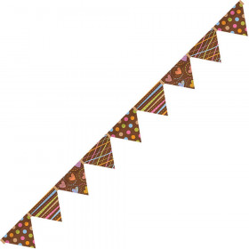 Dots on Chocolate Pennants Mini Bulletin Board Set