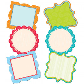 Fancy Chart Cards Dots On Turquoise 10In Designer Cut Outs