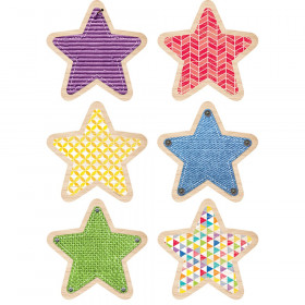 """Upcycle Style Stars 10"""" Jumbo Designer Cut-Outs, 12/Pack"""