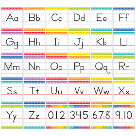 Painted Palette Traditional Manuscript Alphabet Bulletin Board