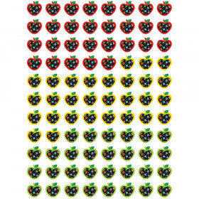 Dots on Black Apples Hot Spots Stickers