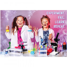 Experiment. Fail. Learn. Repeat. Inspire U Poster, Gr. 3+