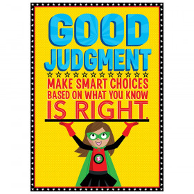 Good Judgement Superhero Inspire U poster