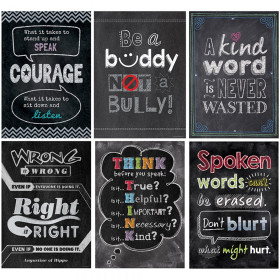 Inspire U No Bullying Allowed Poster Pack, 6 Posters