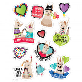 Llama Be My Valentine Stickers Incentive