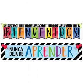 Bienvenidos Bright Spanish Banner