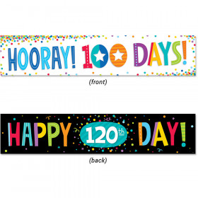 100Th Day And 120Th Day Banner