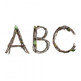 "Rustic Twigs 6"" Designer Letters, 106 Per Pack"