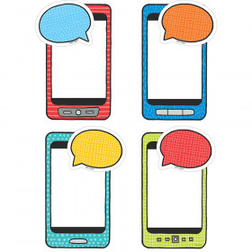 "Student Smartphones & Speech Bubbles 6"" Designer Cut-Outs"