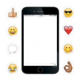 "Emoji Smartphone & Bonus Emojis! 6"" Designer Cut-Outs"