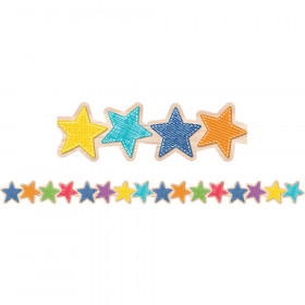 Upcycle Style Stars Border