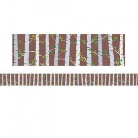 Woodland Friends Birch Trees Border