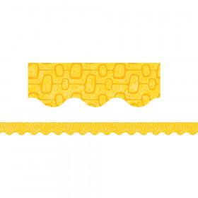 Midcentury Mod Yellow Pods Border