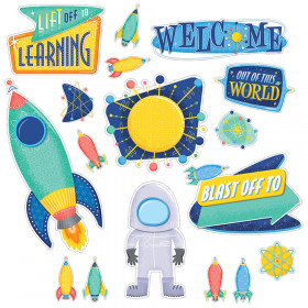 Mid-Century Mod Lift Off to Learning Bulletin Board Set