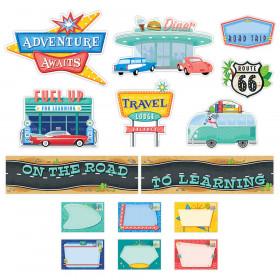 Mid-Century Mod On the Road to Learning Mini Bulletin Board Set