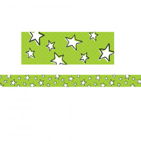 So Much Pun Doodle Stars on Lime Border