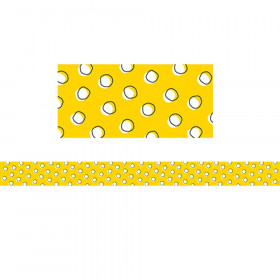 So Much Pun Doodles Dots on Yellow Border