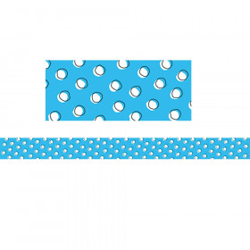 So Much Pun Doodle Dots on Blue Border