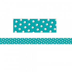 Doodles Dots On Teal Border So Much Pun