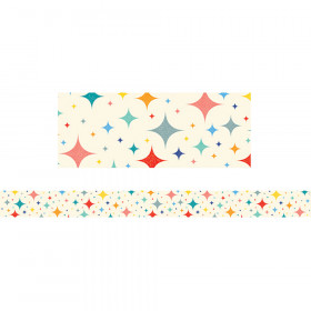 Midcentury Mod Retro Stars Border