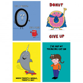 So Much Pun Positive Poster 4 Pack Inspire U