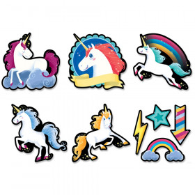 Unicorns 6 inch Designer Cut-Outs (8523)