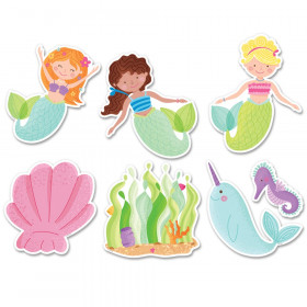 Mermaid Fun 6 inch Designer Cut-Outs (8524)