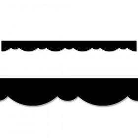 Black Stylish Scallops Border, 35 Feet