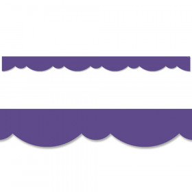 Ultra Violet Stylish Scallops Border, 35 Feet