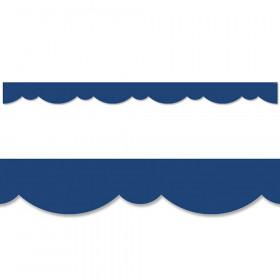 Blue Stylish Scallops Border