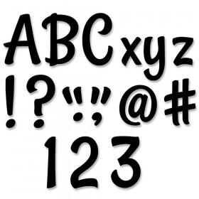 "Stylish Black 4"" Designer Letters, 235/Pack"