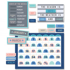 Calm & Cool Calendar Bulletin Board Set