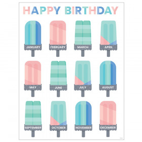 Calm & Cool Happy Birthday Chart