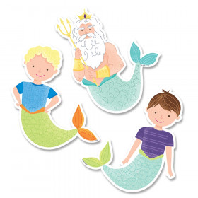 "King Neptune & Friends 6"" Designer Cut-Outs, 36/Pack"
