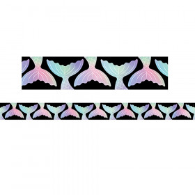 Mystical Magical Mermaid Tails Border, 35 Feet
